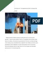 Crónica Como Viví Los Ataques Terroristas 9-11 en NYC