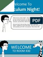 Curriculum Night - 2019-2020