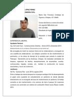 c.v. Cristian Pascual López Pérez