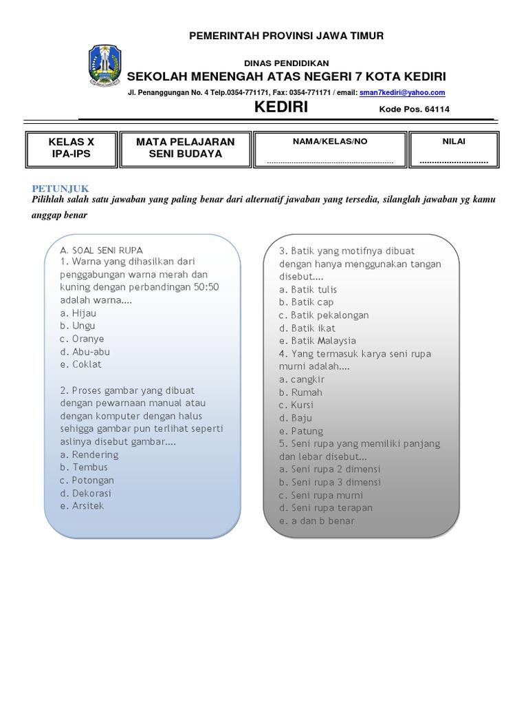 Soal Kelas X 35 Soal Post Test