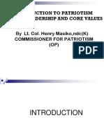 Introduction to Patriotism