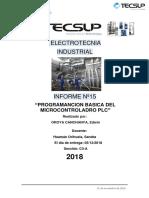 ELECTROTECNIA -Lab. Nº15. Programacion Basaica Del Microcontrolador PLC
