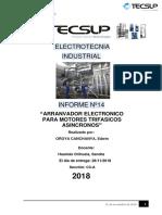 ELECTROTECNIA -Lab. Nº14. Arrancador Electronico Para Motores Trifasicos Asincronos