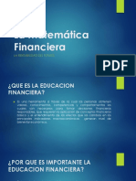 La Educación financiera y el interés simple.