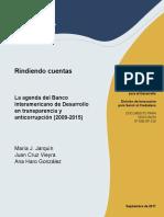 Rindiendo Cuentas La Agenda Del Banco Interamericano de Desarrollo Transparencia