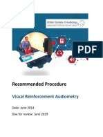 Visual Reinforcement Audiometry 1