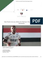 São Paulo Recusa Oferta Do Kansas City Pelo Zagueiro Arboleda