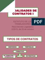 Modalidades de Contrato I- 2018