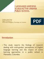 The English Language Learning Inside the Escuela Activa