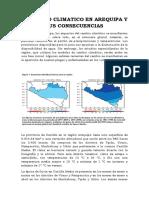 El Cambio Climatico en Arequipa y Sus Consecuencias