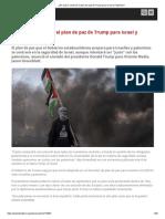 ¿en Qué Se Centrará El Plan de Paz de Trump Para Israel y Palestina