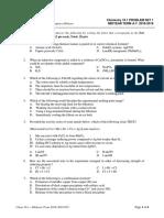 Chem 16.1 Problem Set LE1 M19