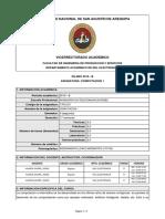 Silabo Computación 1 - Ingeniería de Telecomunicaciones - UNSA