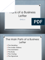 8 Parts of a Business Letter