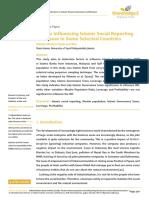 Factors Influencing Islamic Social Reporting