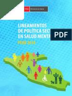 Lineamientos de Política Sectorial en Salud Mental