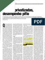Escolas privatizadas, desempenho Pífio