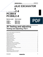 PC350-8 Testing & Adjusting Part1