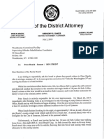 Special prosecutor's letter to Peter Rauch's parole board