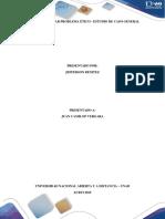 Plantear problema ético - estudio de caso general