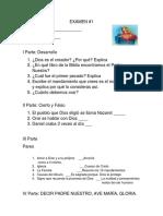 Examen 1 Primera Comuniom