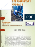 Informe de Fugas Ptar y Ptad Pad 9