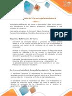 Presentación Del Curso Legislación Laboral