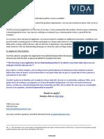 Matchmaker Job Information