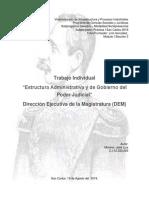 ESTRUCTURA ADMINISTRATIVA Y DE GOBIERNO DEL PODER JUDICIAL  DEM.docx
