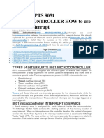 Interrupts 8051 Microcontroller How to Use External Interrupt