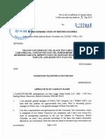 Affidavit From Vancouver Taxi Association