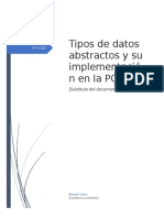 la abstracción de datos en la estructura de datos