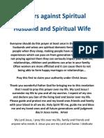 Prayer Against Spirit Husband or Wife(1)