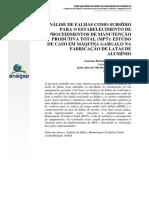 Análise de Falhas Como Subsídio Para o Estabelecimento de Procedimentos de Manutenção Produtiva Total (MPT) Estudo de Caso Em Máquina Gargalo Na Fabricação de Latas de Alumínio (1)