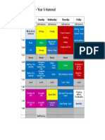 2018 hammat term three timetable - flynn
