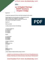 NCERT Solutions Class 12 English Flamingo Chapter 5 Indigo