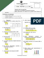 Prueba - Mayo - Matemática