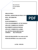 Informe Numero 6 Ley de Faraday