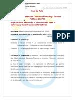 2-2. Hoja de Ruta Momento 3. Fase 3 Seleccion y Definicion de Alternativas. 0-2