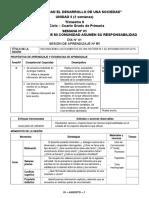 SESIONES DE LA UNIDAD - 4°
