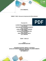 Trabajo Final Unidad 1 Fase 1 Etica Ambiental (1)