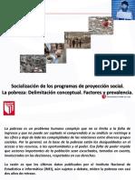 SESION 2 Socialización de Los Programas de Proyección Social.la Pobreza Delimitación Conceptual. Factores y Prevalencia