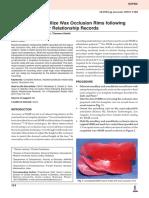 Technique to Stabilize Wax Occlusion Rims Following Maxillomandibular_Relationship Records