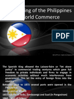 The Opening of the Philippines to World Commerce