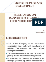 Organisation change in Ford