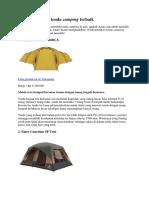 Jenis Tenda Dome Kualitas Terbaik