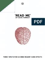 Dave Forrest - Read Me