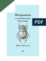 Mike Wilson, Wittgenstein y el sentido tácito de las cosas