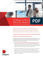 10 Ways to Run More Effective Board Metings White Paper