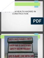 Safety and Health Hazard in Construction